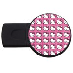 Hello Kitty Patterns USB Flash Drive Round (1 GB)  Front