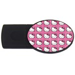 Hello Kitty Patterns USB Flash Drive Oval (2 GB)  Front