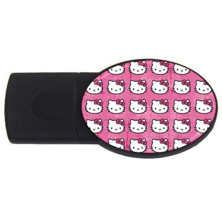 Hello Kitty Patterns USB Flash Drive Oval (2 GB)