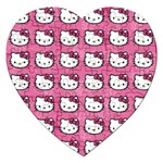 Hello Kitty Patterns Jigsaw Puzzle (Heart) Front