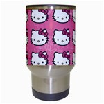 Hello Kitty Patterns Travel Mugs (White) Center