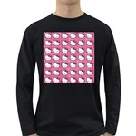 Hello Kitty Patterns Long Sleeve Dark T-Shirts Front