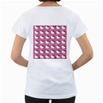 Hello Kitty Patterns Women s Loose-Fit T-Shirt (White) Back