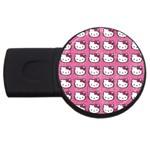 Hello Kitty Patterns USB Flash Drive Round (4 GB)  Front