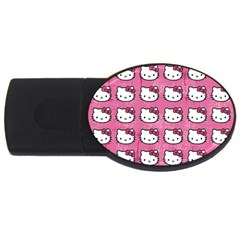 Hello Kitty Patterns USB Flash Drive Oval (4 GB)