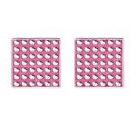 Hello Kitty Patterns Cufflinks (Square) Front