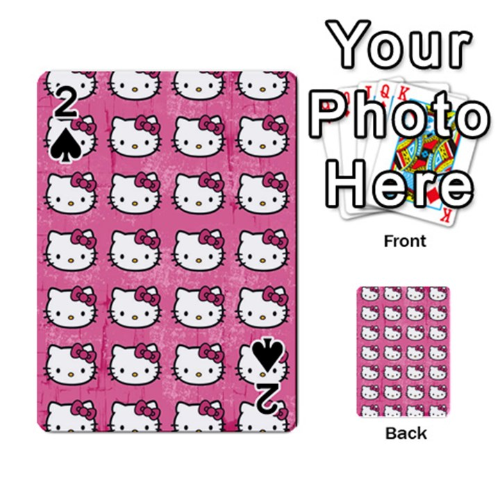 Hello Kitty Patterns Playing Cards 54 Designs