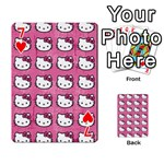 Hello Kitty Patterns Playing Cards 54 Designs  Front - Heart7