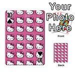 Hello Kitty Patterns Playing Cards 54 Designs  Front - Spade10