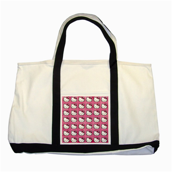Hello Kitty Patterns Two Tone Tote Bag