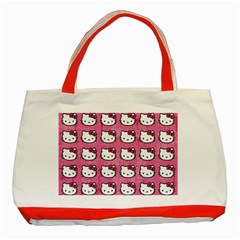 Hello Kitty Patterns Classic Tote Bag (Red)