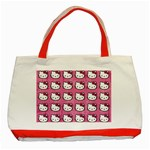 Hello Kitty Patterns Classic Tote Bag (Red) Front