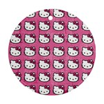 Hello Kitty Patterns Round Ornament (Two Sides)  Back