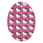 Hello Kitty Patterns Oval Ornament (Two Sides) Back
