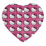 Hello Kitty Patterns Heart Ornament (2 Sides) Front