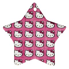 Hello Kitty Patterns Star Ornament (Two Sides)