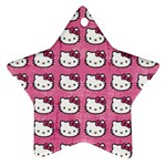 Hello Kitty Patterns Star Ornament (Two Sides)  Back