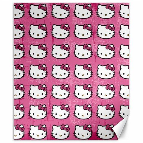 Hello Kitty Patterns Canvas 8  x 10