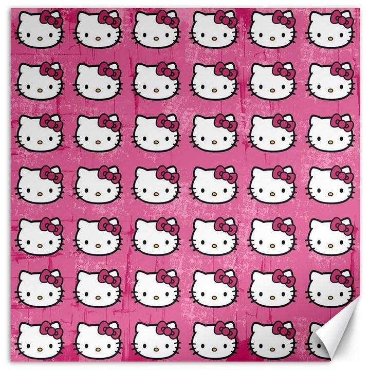 Hello Kitty Patterns Canvas 20  x 20