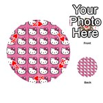 Hello Kitty Patterns Playing Cards 54 (Round)  Front - HeartK