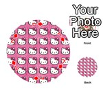 Hello Kitty Patterns Playing Cards 54 (Round)  Front - Diamond7