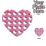 Hello Kitty Patterns Playing Cards 54 (Heart)  Front - HeartQ