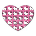 Hello Kitty Patterns Heart Mousepads Front