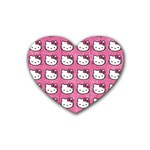 Hello Kitty Patterns Heart Coaster (4 pack)  Front
