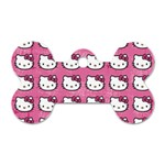 Hello Kitty Patterns Dog Tag Bone (Two Sides) Front
