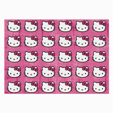 Hello Kitty Patterns Large Glasses Cloth (2-Side)