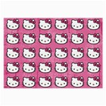 Hello Kitty Patterns Large Glasses Cloth (2-Side) Back