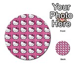 Hello Kitty Patterns Multi-purpose Cards (Round)  Front 43
