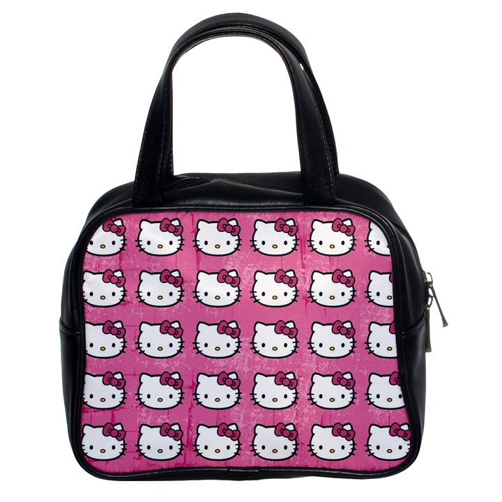 Hello Kitty Patterns Classic Handbags (2 Sides)