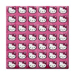 Hello Kitty Patterns Face Towel Front