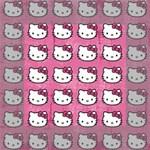 Hello Kitty Patterns Mini Canvas 4  x 4  4  x 4  x 0.875  Stretched Canvas