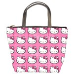 Hello Kitty Patterns Bucket Bags Front