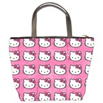 Hello Kitty Patterns Bucket Bags Back