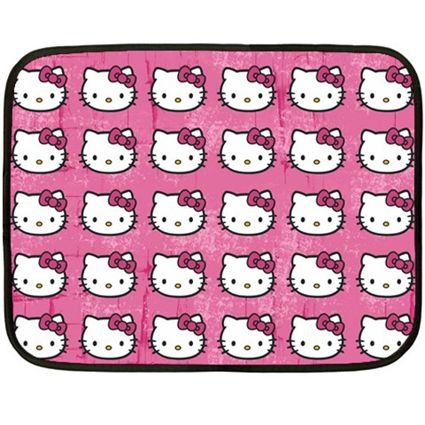 Hello Kitty Patterns Fleece Blanket (Mini)