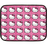 Hello Kitty Patterns Fleece Blanket (Mini) 35 x27 Blanket