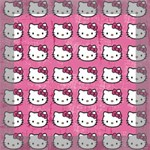 Hello Kitty Patterns Mini Canvas 8  x 8  8  x 8  x 0.875  Stretched Canvas