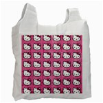Hello Kitty Patterns Recycle Bag (One Side) Front