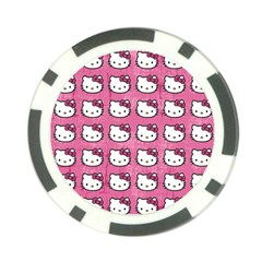 Hello Kitty Patterns Poker Chip Card Guards (10 pack)