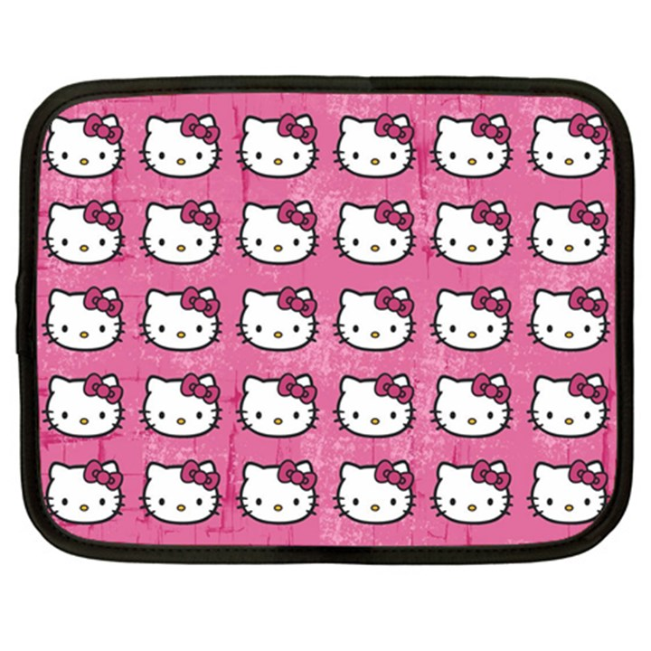 Hello Kitty Patterns Netbook Case (XL)