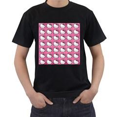 Hello Kitty Patterns Men s T-Shirt (Black)