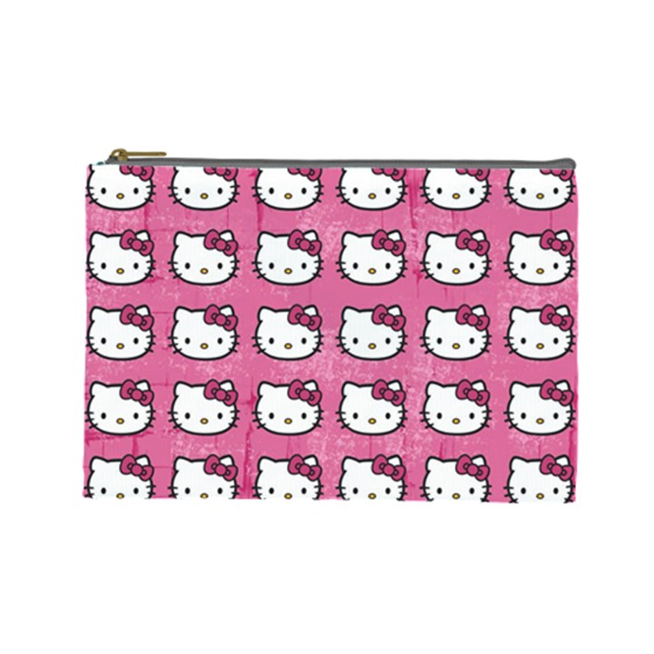 Hello Kitty Patterns Cosmetic Bag (Large)