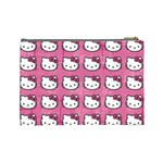 Hello Kitty Patterns Cosmetic Bag (Large)  Back