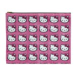 Hello Kitty Patterns Cosmetic Bag (XL) Front