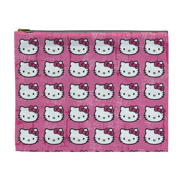 Hello Kitty Patterns Cosmetic Bag (XL)