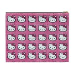 Hello Kitty Patterns Cosmetic Bag (XL) Back