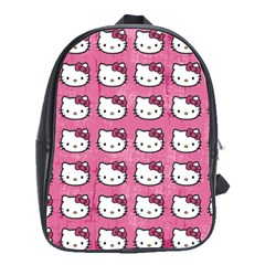 Hello Kitty Patterns School Bags(Large)